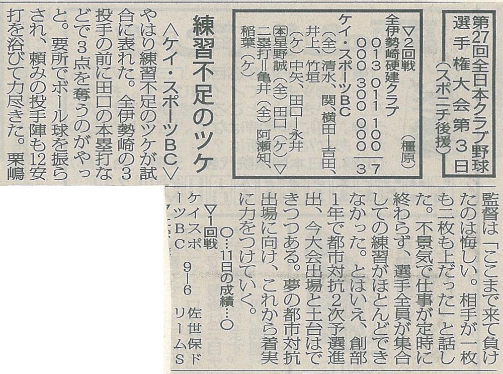 第27回全日本クラブ選手権大会