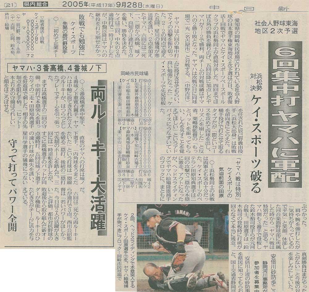 第32回社会人野球日本選手権東海地区2次予選