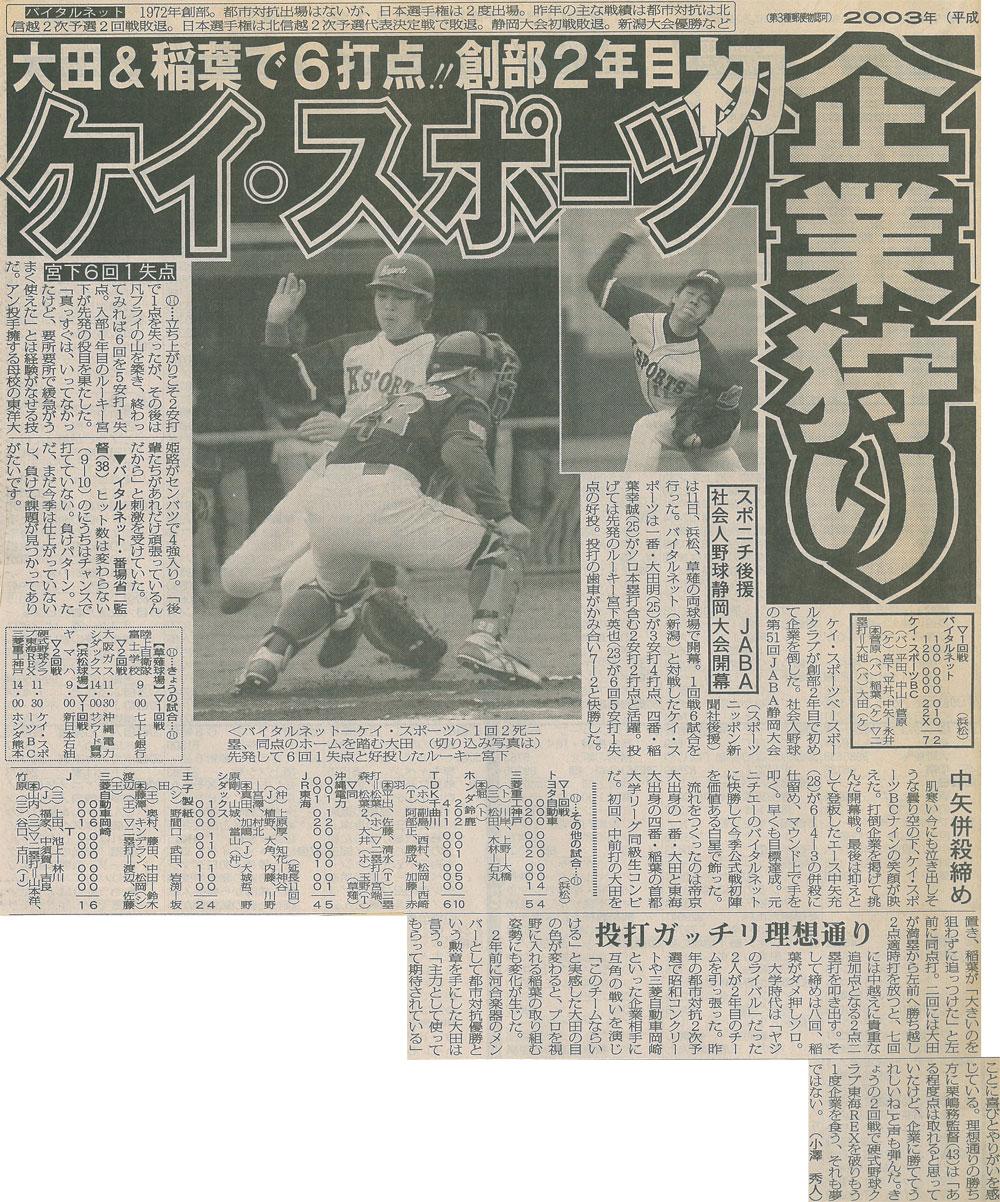 JABA社会人野球静岡大会