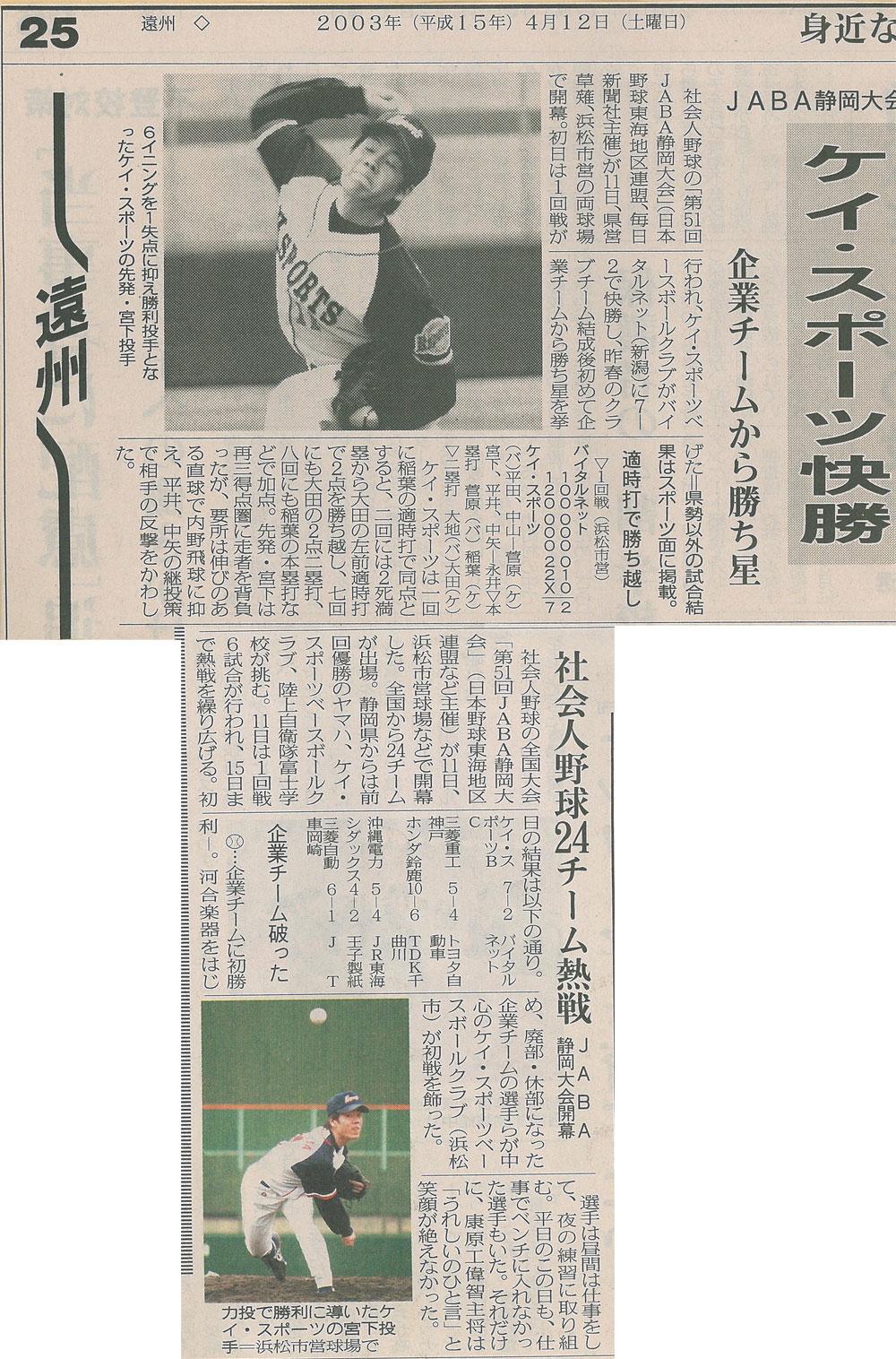 第51回JABA静岡大会