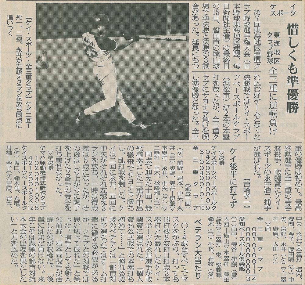 第7回東海クラブ選手権野球大会関
