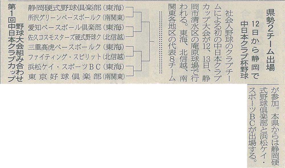 中日本クラブカップ大会