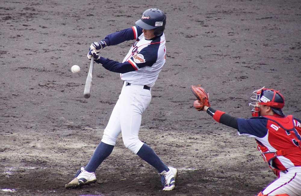 永井の二塁打