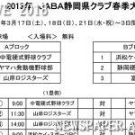 2018年 JABA静岡県クラブ春季大会組み合わせ